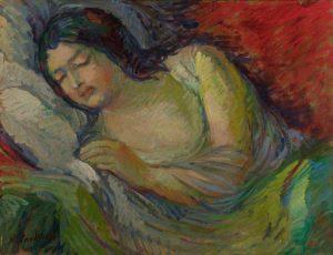 paintingwomansleep